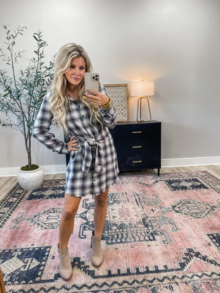 Always Ready Flannel Dress
