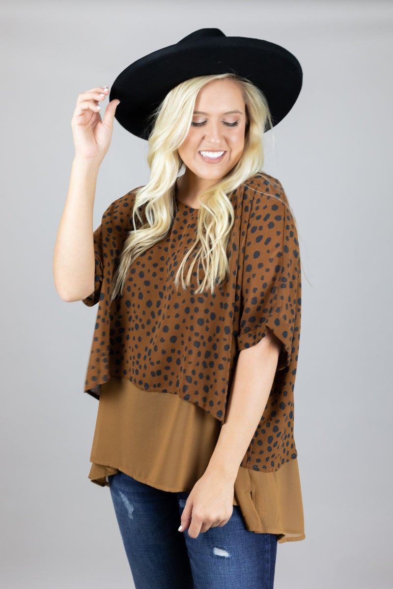 Spotted in Layers Top