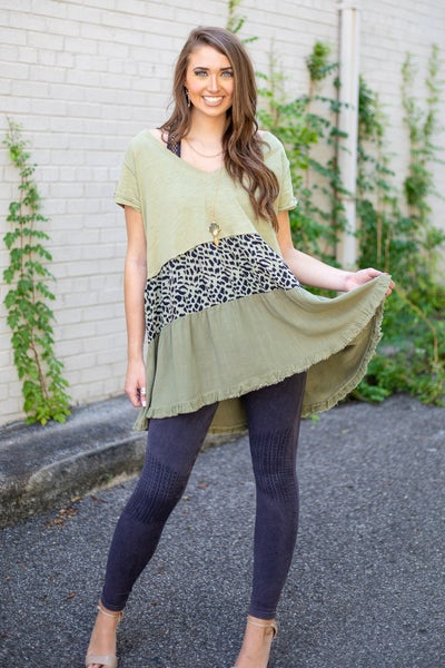 Showing Your Wild Side Tunic Dress