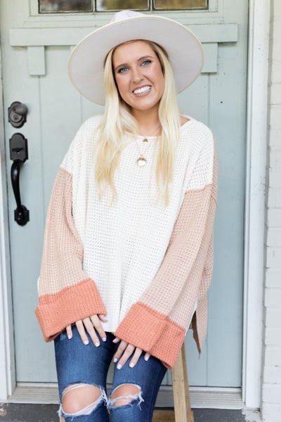 Blush All Snuggled Up Sweater