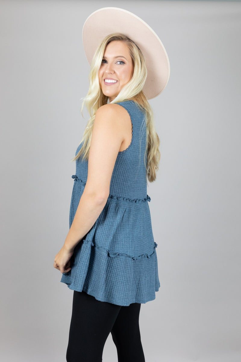 Flirty and Frilly Tank
