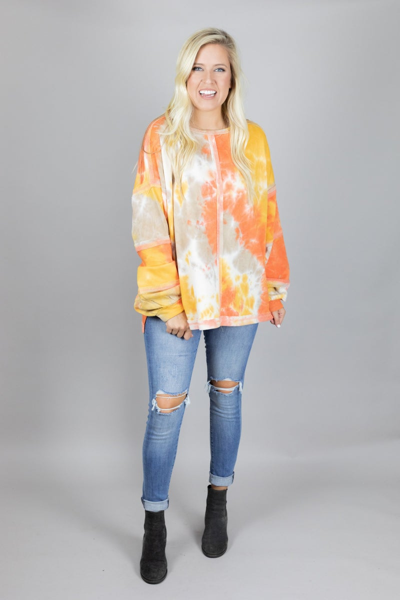 Retro Fantasy Tie Dye Top