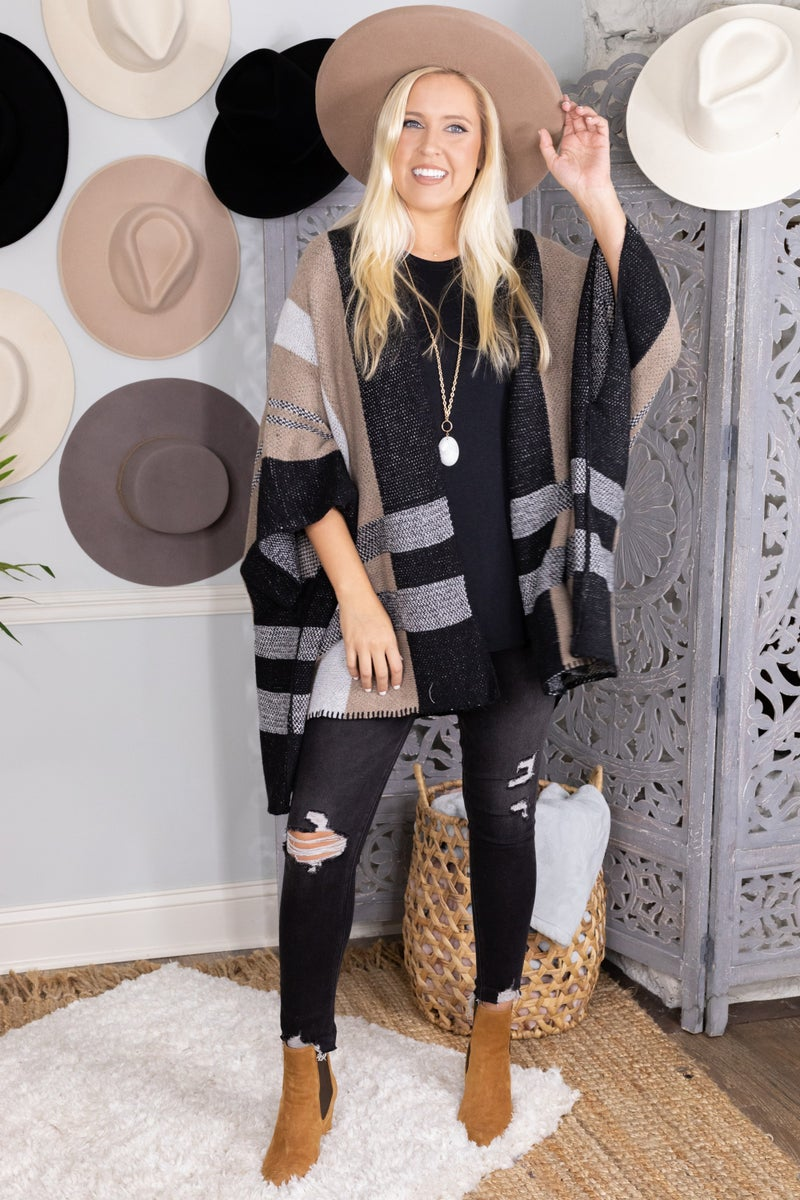 Fall with Me Poncho Cardigan