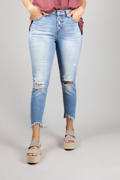 Snap Into Style Jeans *Final Sale*