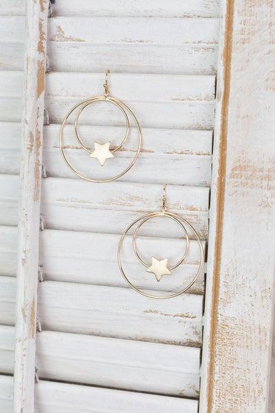Seeing Double Star Hoop Earrings