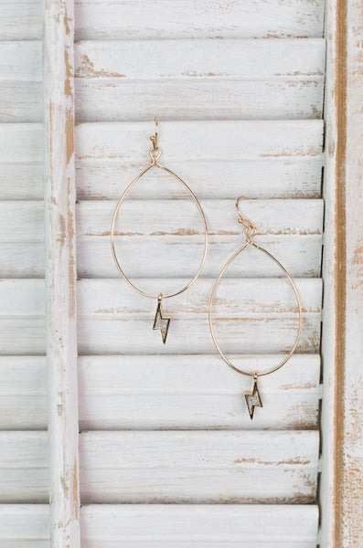 Struck By Love Hoop Earrings