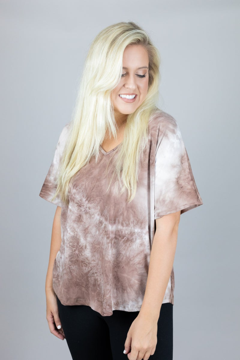 On Your Mind Tie Dye Top