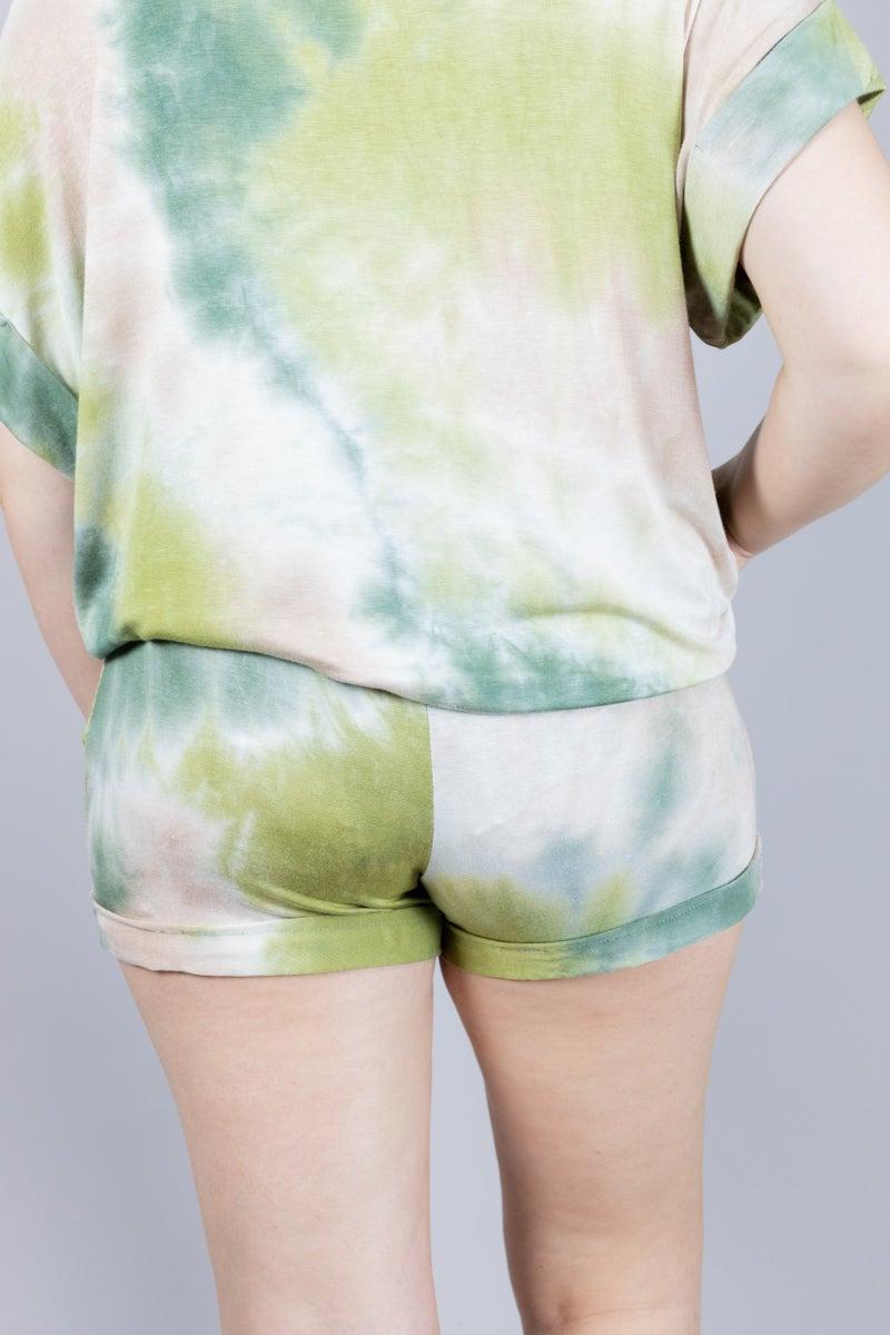 Sandy Sunsets Tie Dye Shorts