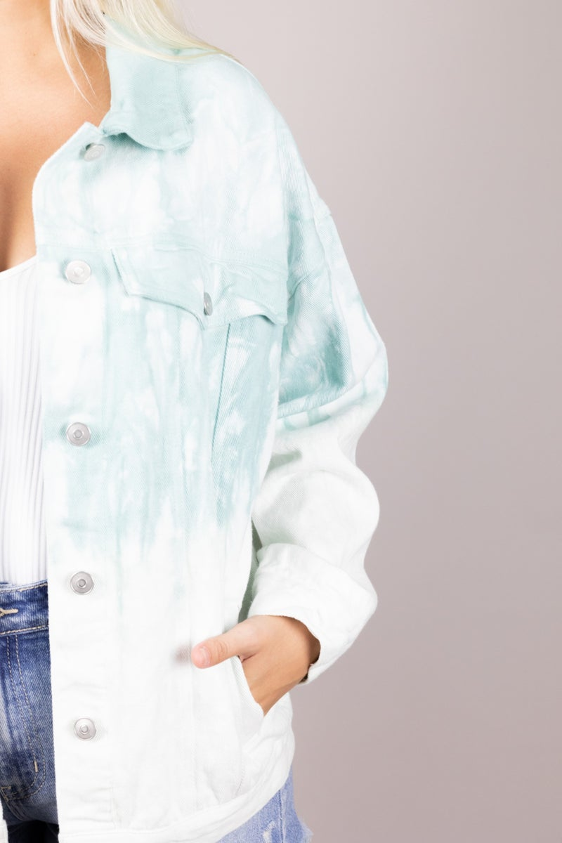 Ocean Vibes Tie Dye Jacket