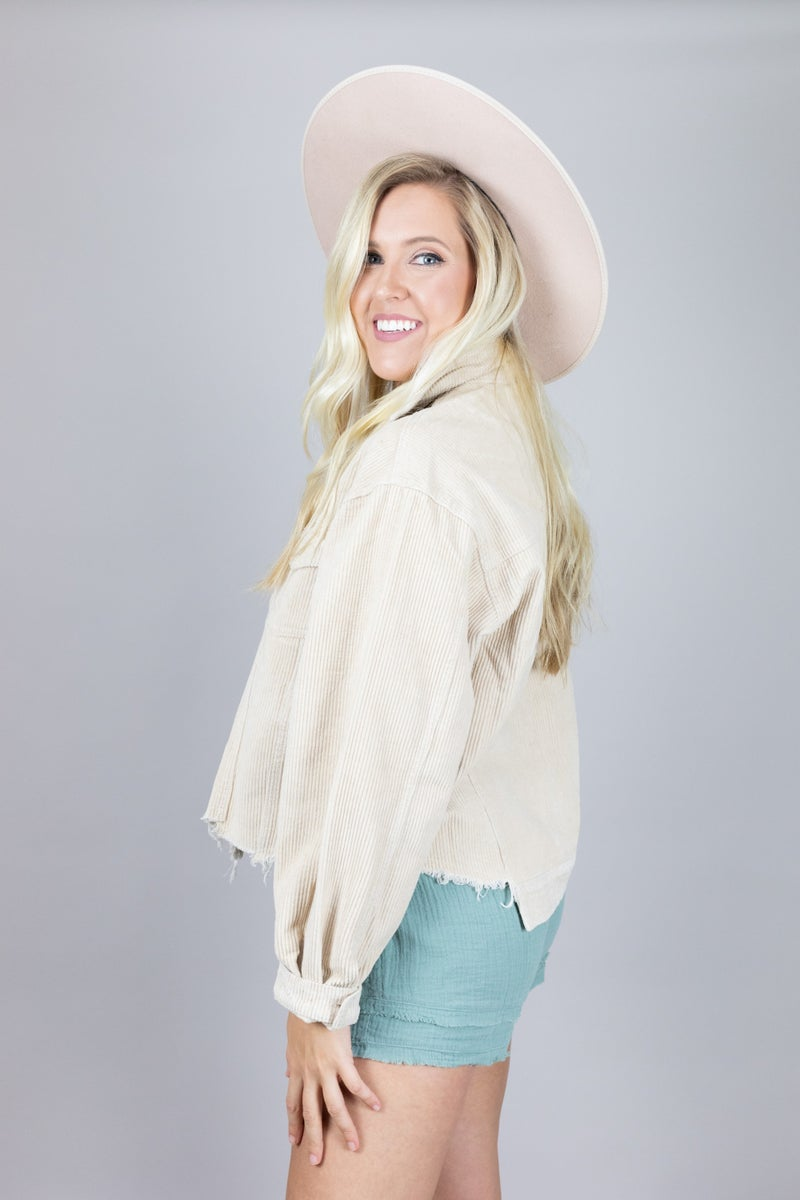Beige City Chic Jacket