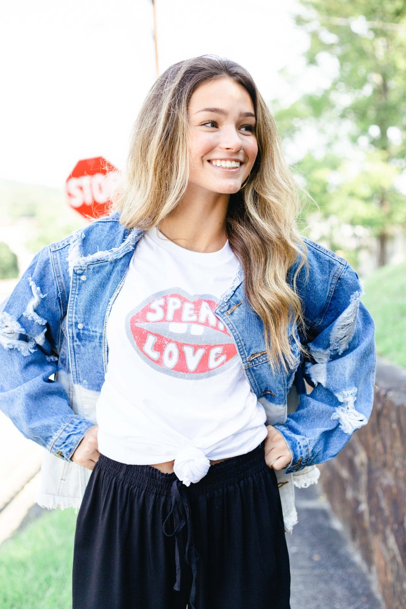 Speak Love Outlined Graphic Tee