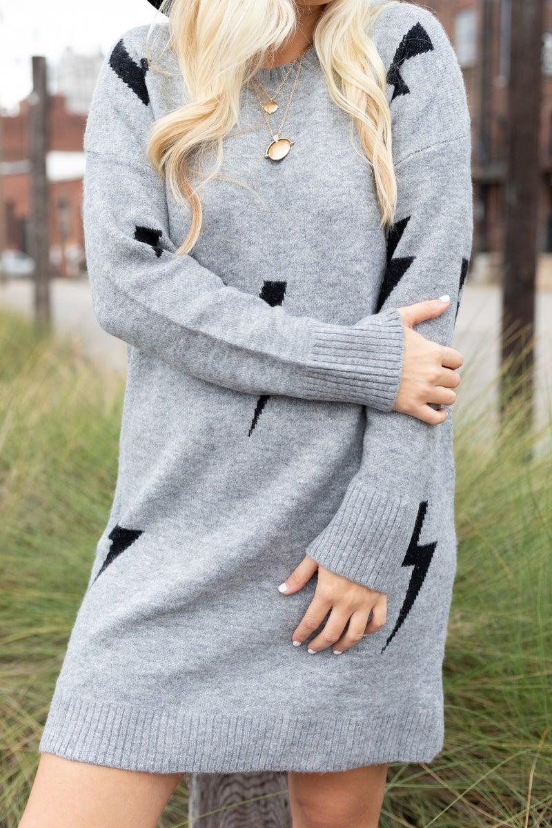 Strike Your Heart Sweater Dress