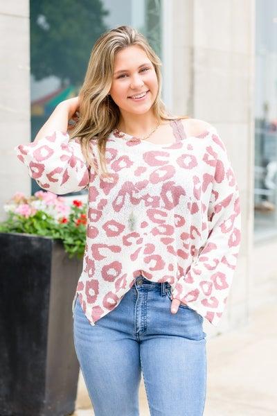 Cheetah Girl, Cheetah Sister Lightweight Sweater