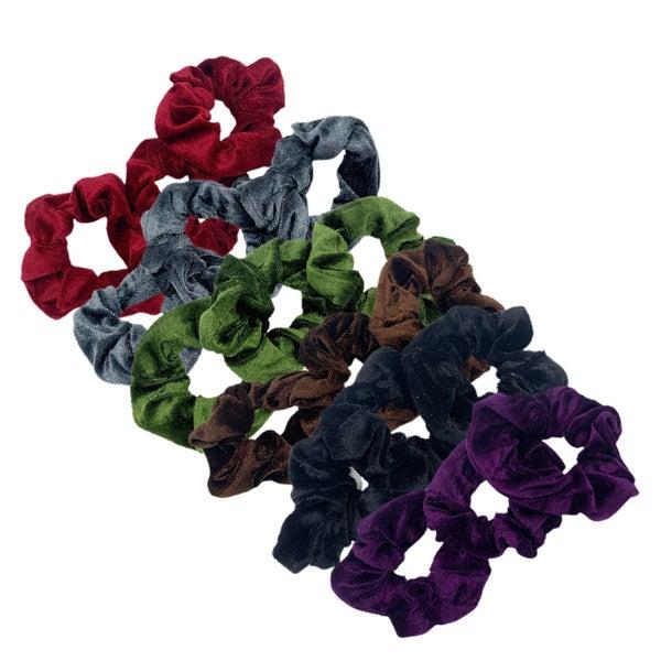 Crushed Velvet Scrunchie 3 Pack