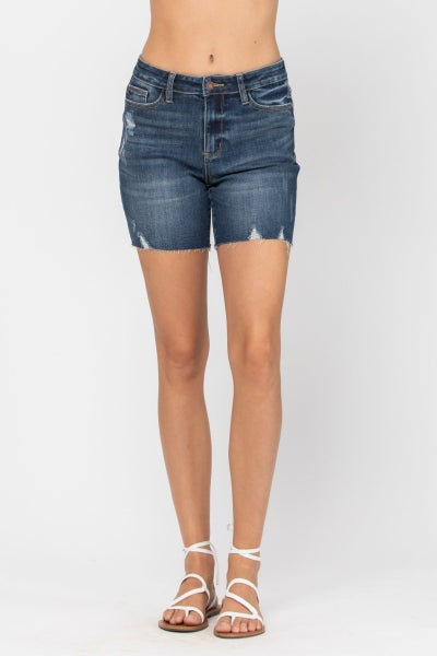 Judy Blue HIGH RISE MID-THIGH SHORTS