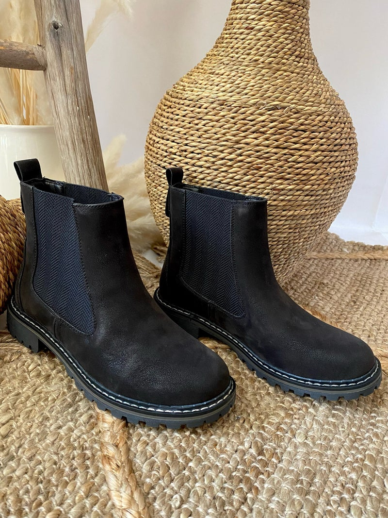 Corkys To Be Honest Black Boots