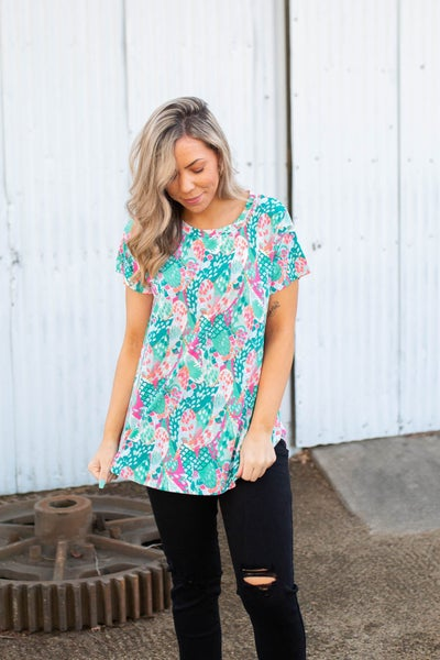 Don't Be Coy Short Sleeve Top