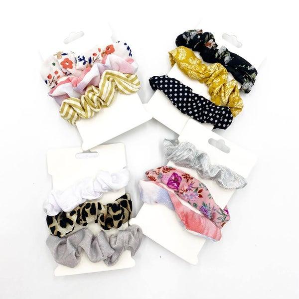 Pattern Scrunchie Set