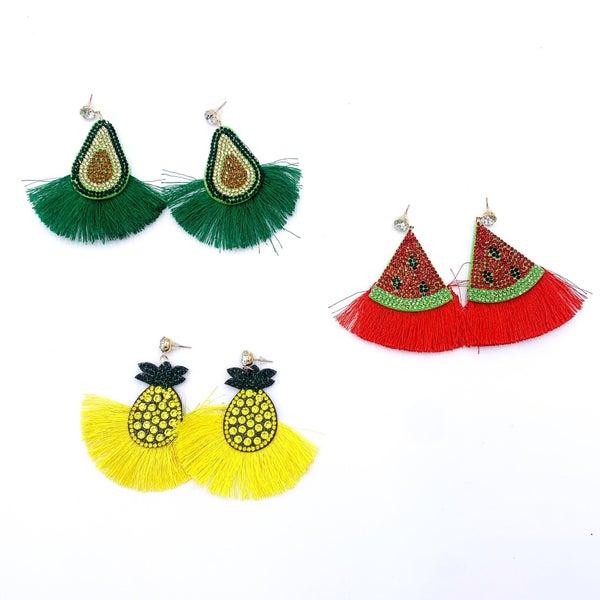 Fruity Tassle Earrings