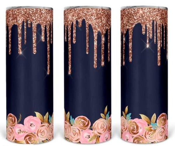 Rose Glitter 20oz Tumbler