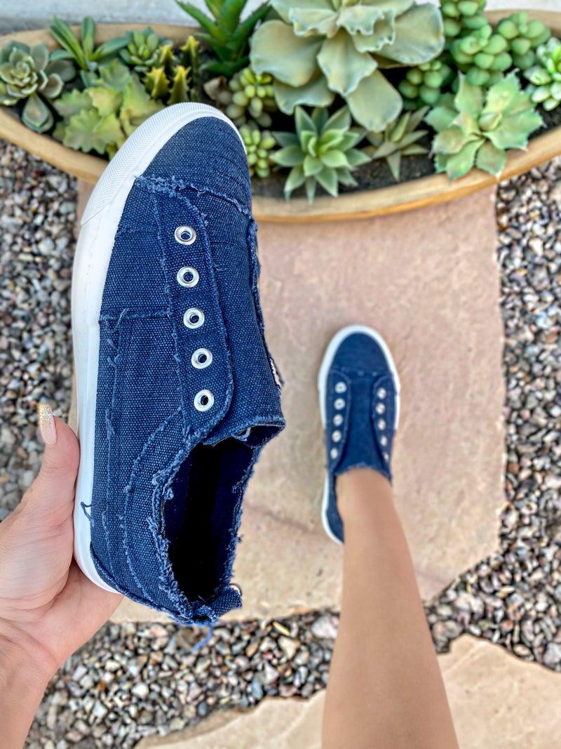 Corkys Skyler Navy Slip-on Sneaker