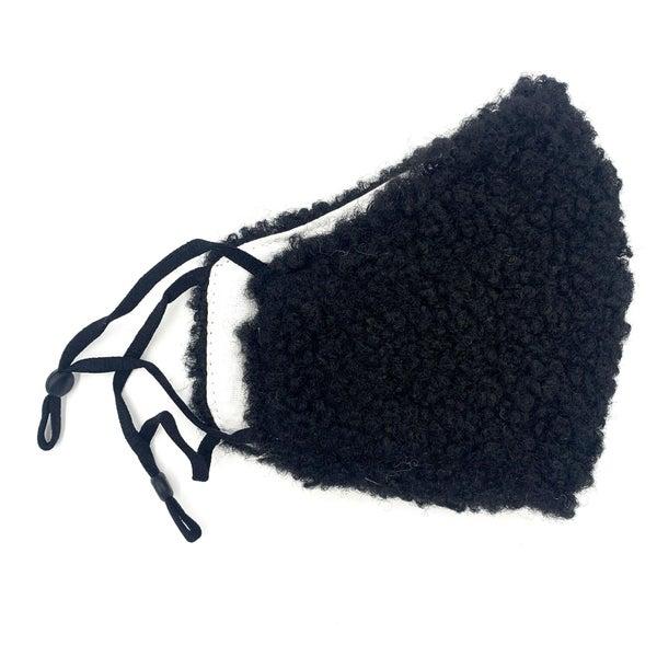 Black Furry Mask