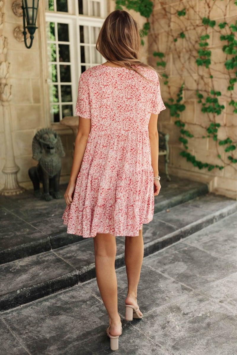 Red Flora Dress