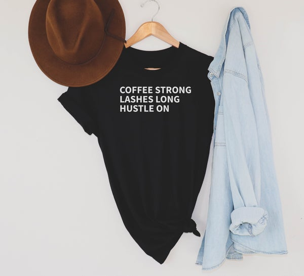 Coffee and lashes black