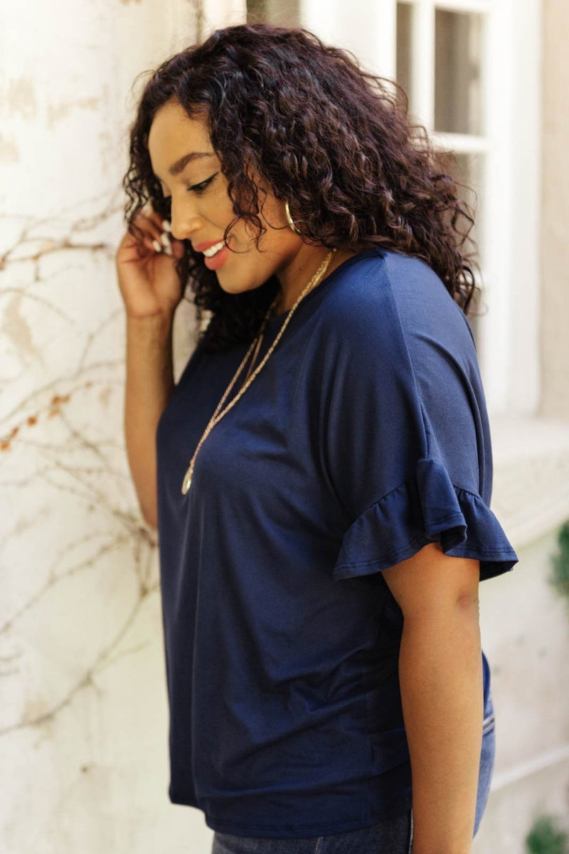 Twisted Luck Top in Navy