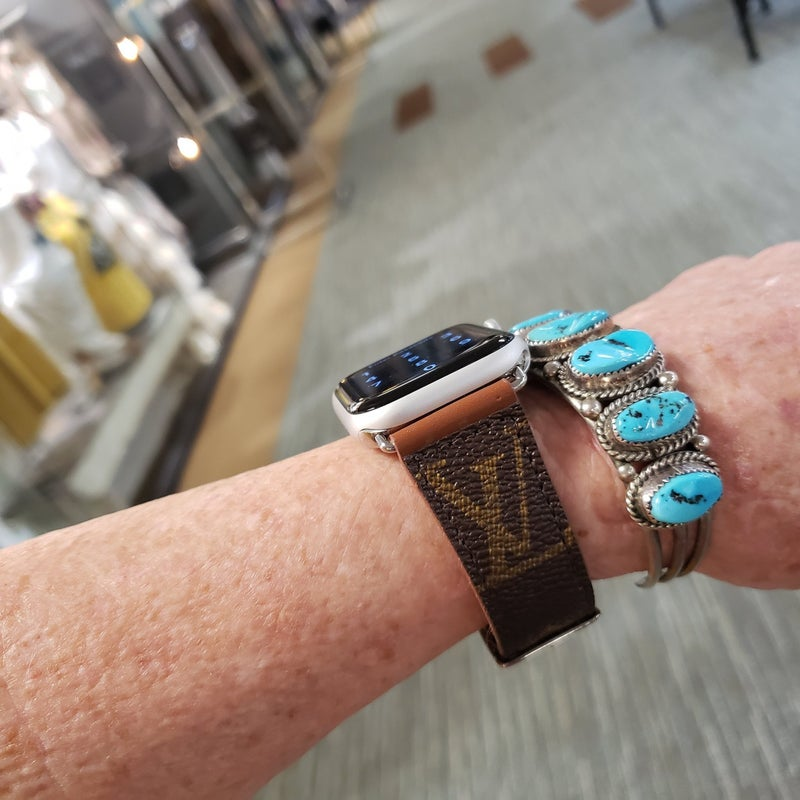 Upcycled LV iWatch Bands