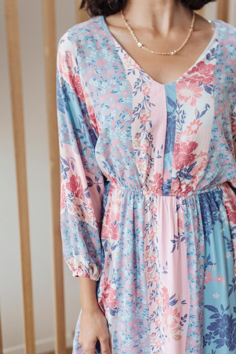 Perfectly Paired Print Dress in Lavender
