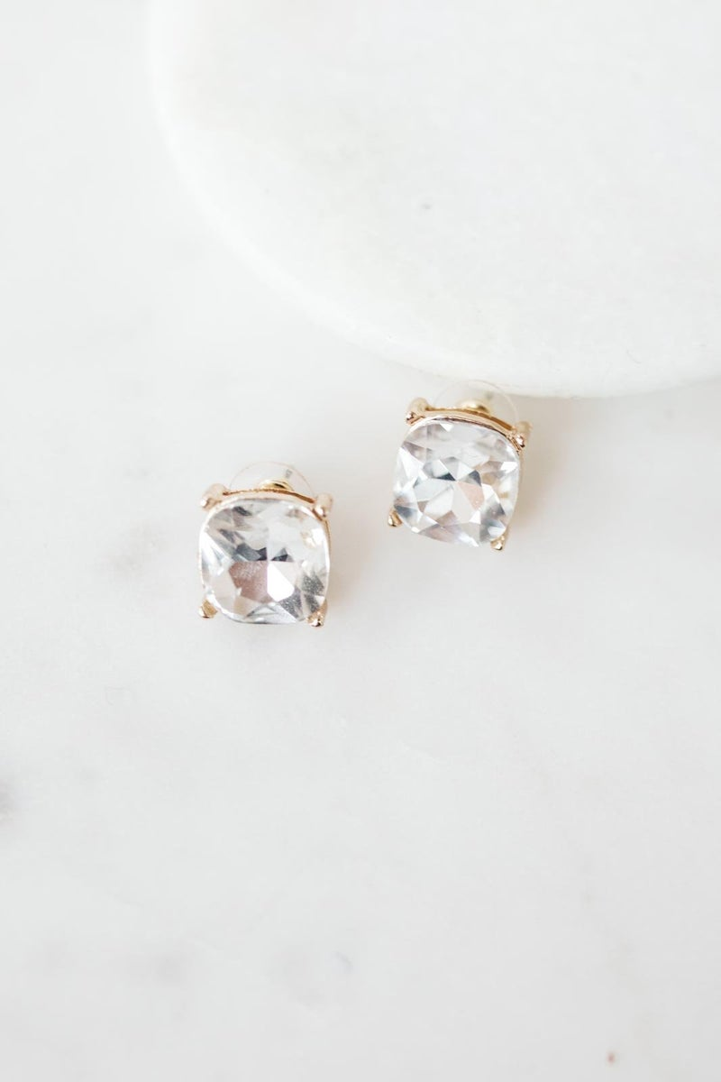 Crystal Studs in White