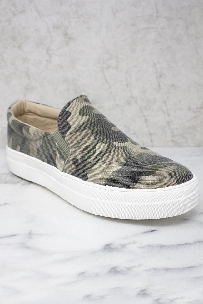 Slip Into Style Slip On Sneakers - Camo