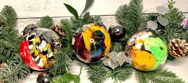 Scrunchie Stuffed Ornaments