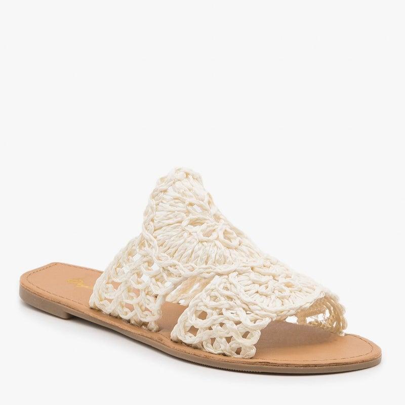 Crochet Raffia Sandals