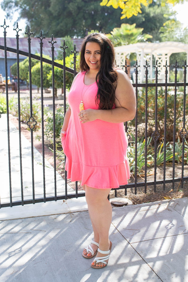 Twirl Away Ruffle Dress