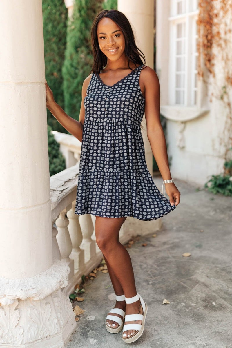 Later Days Dress in Navy