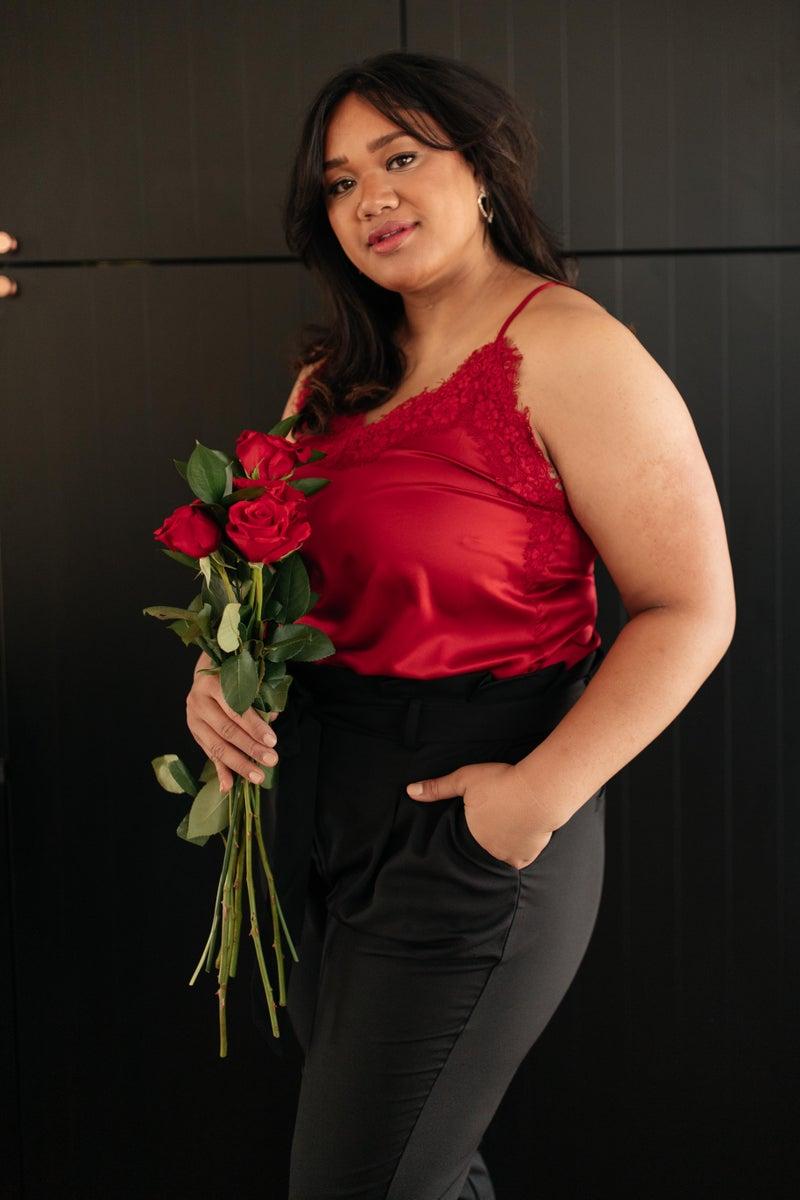 Roses and Satin Tank