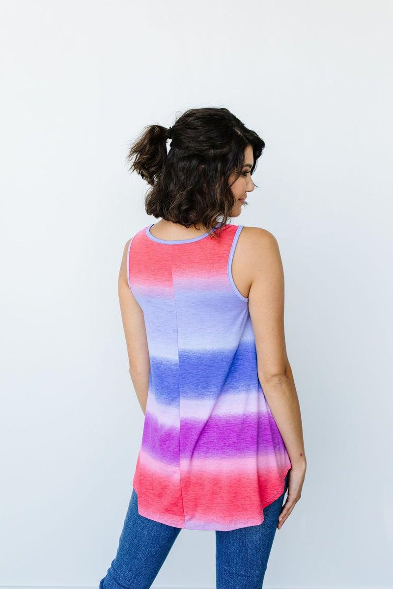 Pastel Gradient Stripes in Pink & Aqua