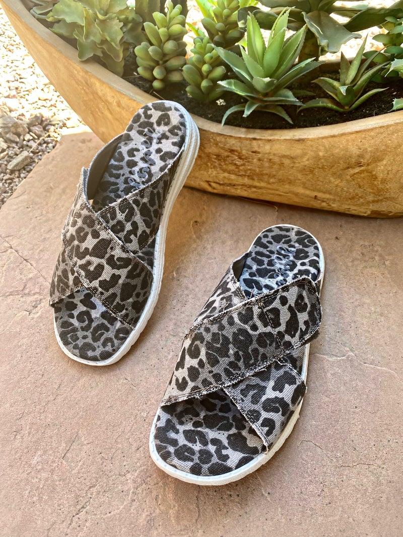 Gypsy Jazz Ocean Leopard Slip-on Sandals