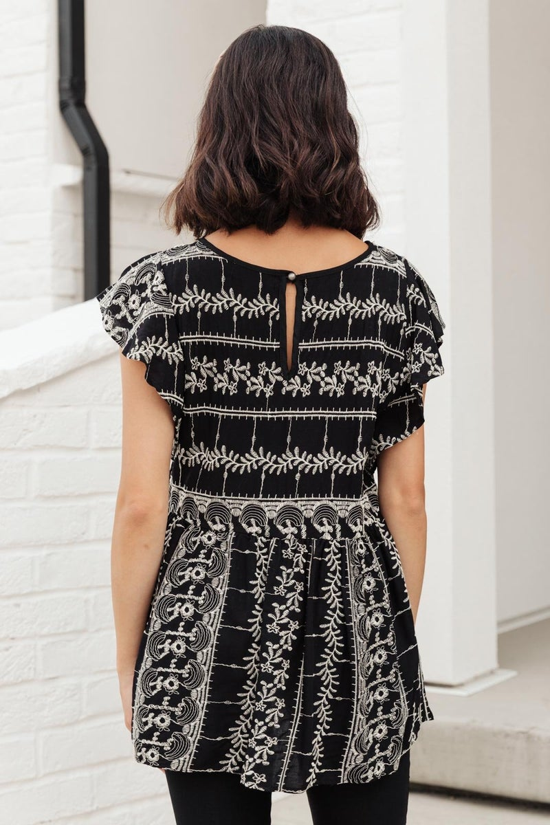 Artistic Embroidery Top