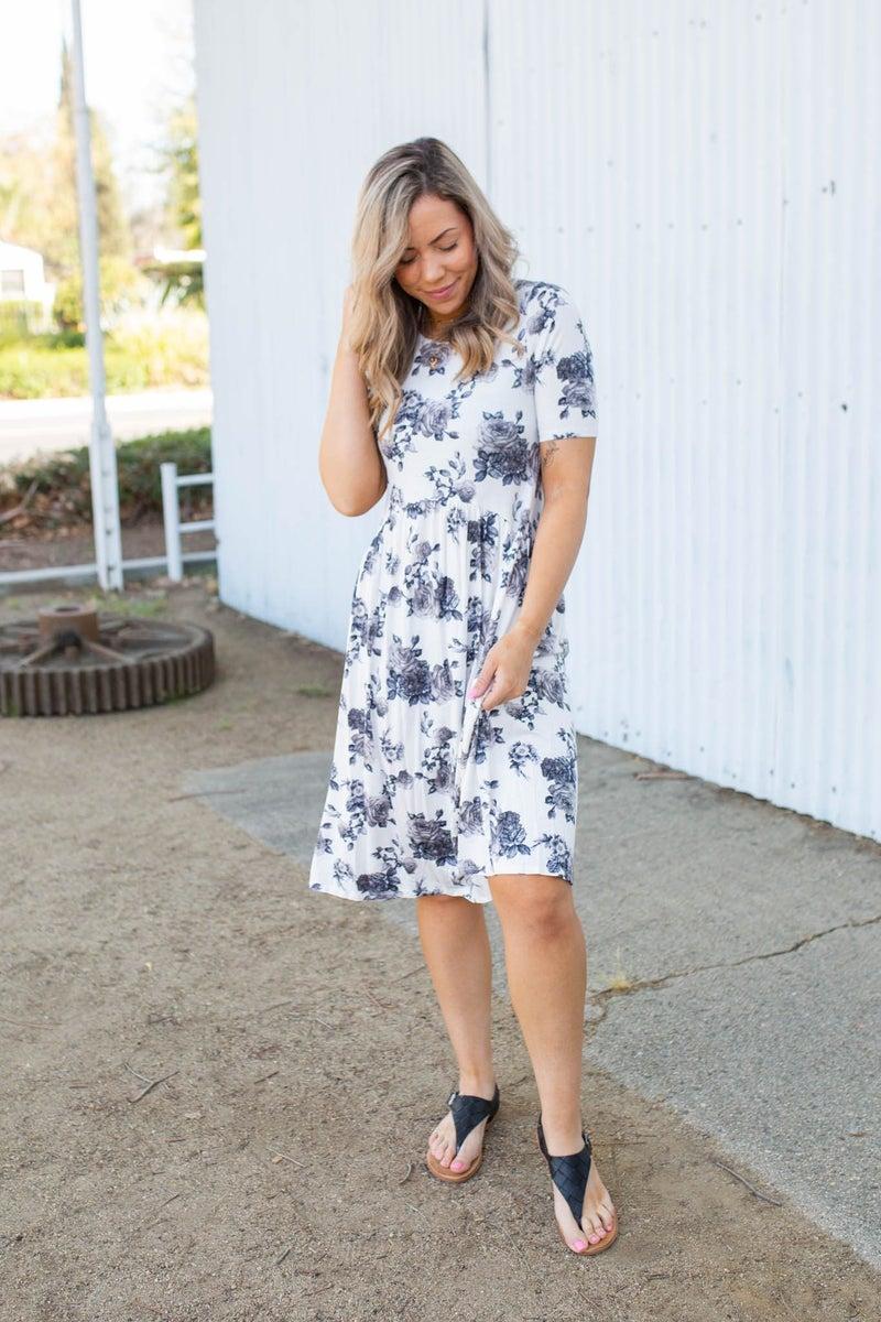 Timeless Floral Midi Dress