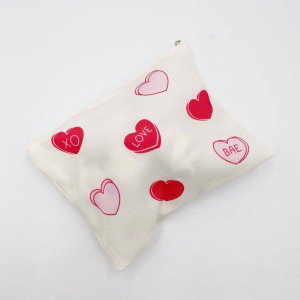 Candy Heart Makeup Bag