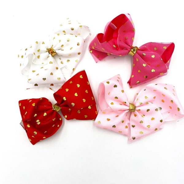 Heart Punched Bows