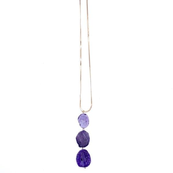 Triple Agate Necklace