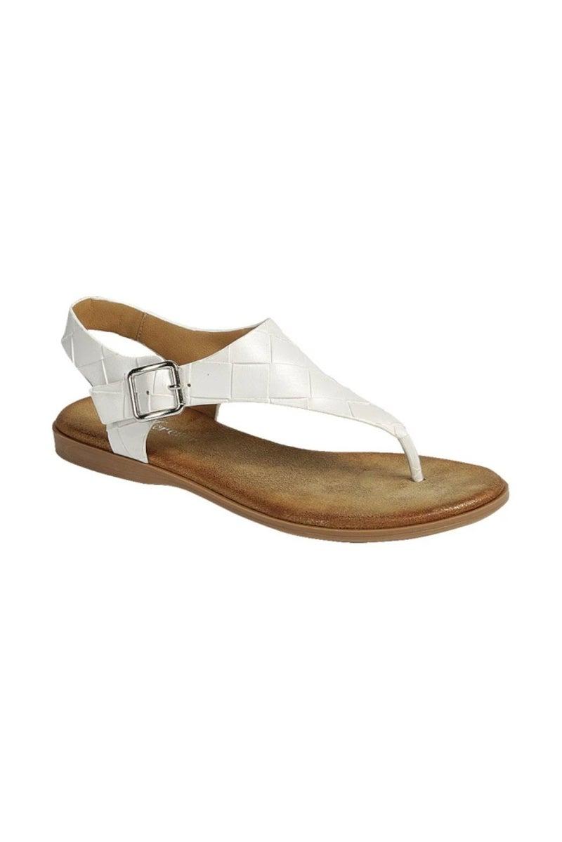 White Braided Slingback Sandal