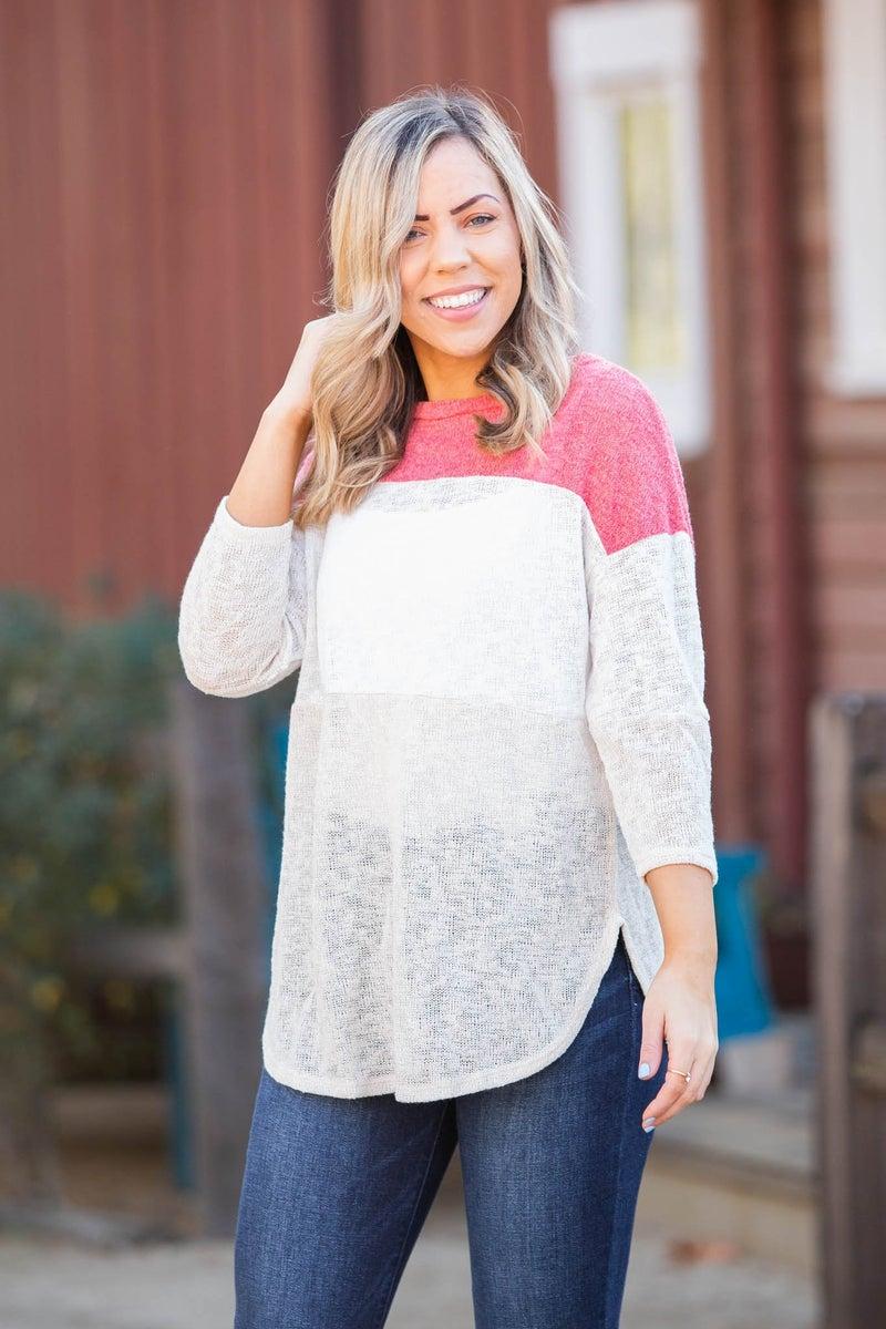 Coralina Colorblock Knit Top