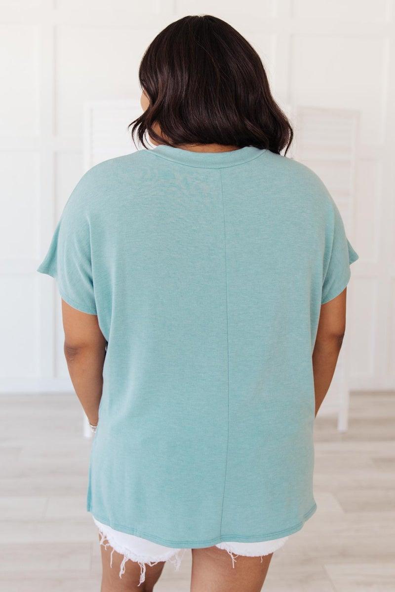 The Weekender Top in Blue