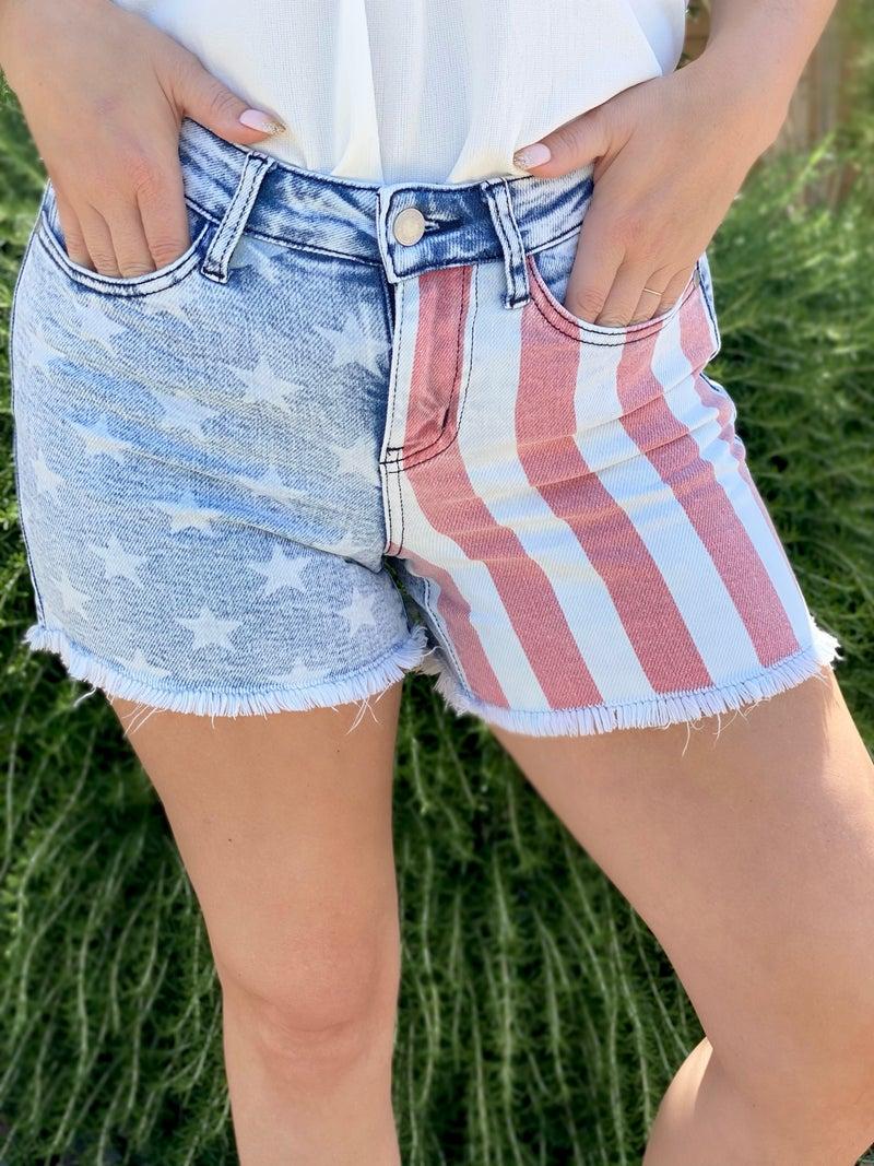 All American USA Judy Blue Shorts