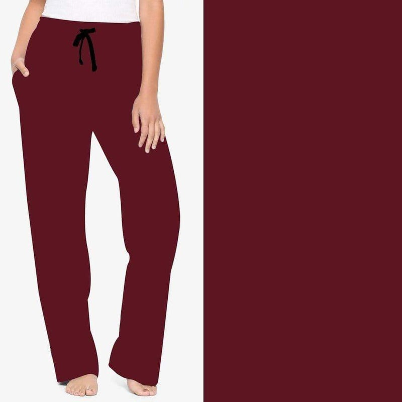 Solid Burgundy Lounger